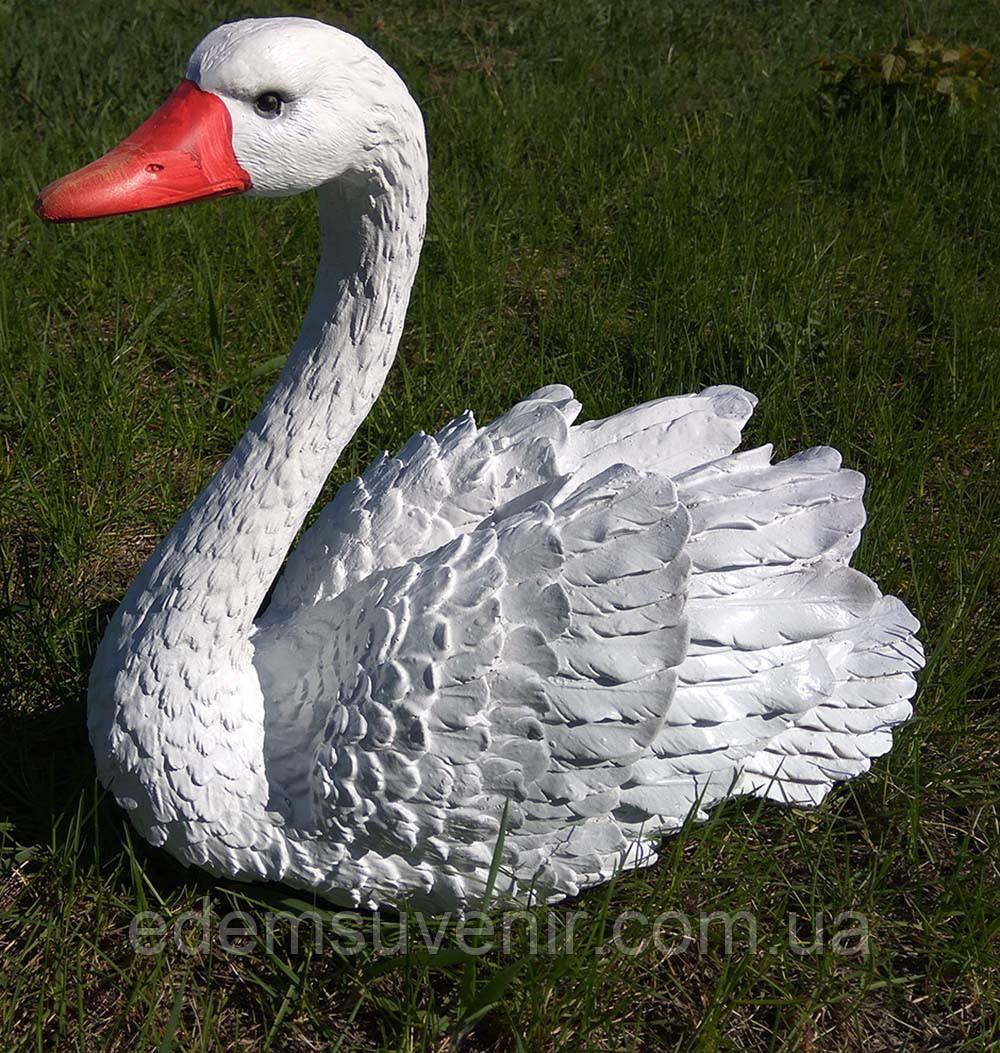 Садовая фигура Лебедь белый малый