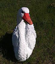 Садовая фигура Лебедь белый малый, фото 2
