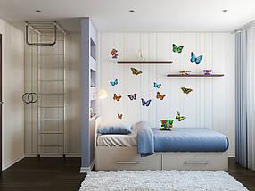 Наклейки бабочки самоклеющиеся для украшения дома, фото 3
