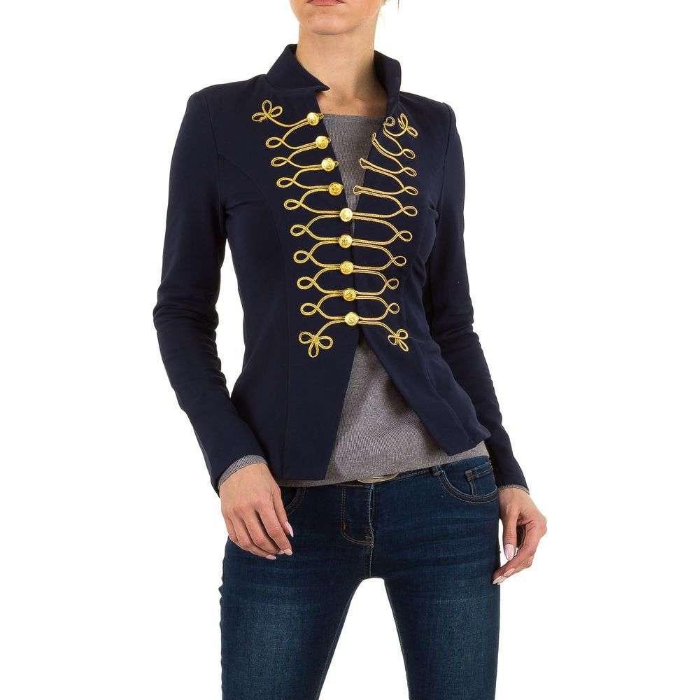 Женский пиджак милитари с вышивкой (Европа), Синий