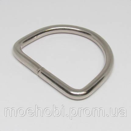 Полукольцо  для сумки (40мм) никель 4220, фото 2