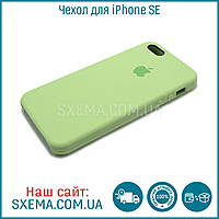 Чехол-накладка для iPhone SE силиконовый Silk Silicone Green