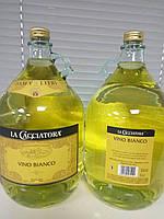 """Вино белое сухое """"La Cacciatora"""" 5л"""