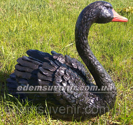 Садовая фигура Лебедь черный, фото 2