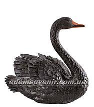 Садовая фигура Лебедь черный малый, фото 2