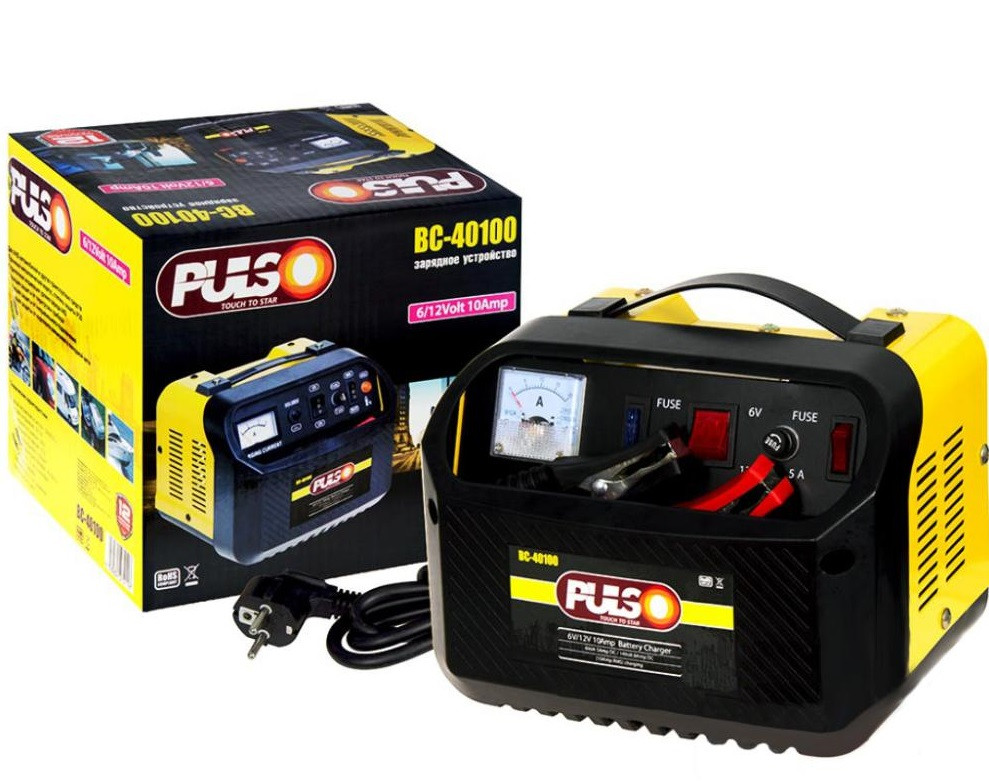 Зарядное устр-во PULSO BC-40100 6-12V/10A/12-200AHR/стрел.индик.