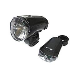 Комплект фара + мигалка XLC CL-S14 '10 Lux' / Фара с креплением для велосипеда черного цвета