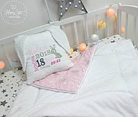 Декоративна подушка - метрика для немовляти 1050