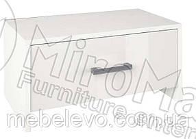 Рома Тумба прикроватная 1Ш 350х600х360мм белый глянец   Миро-Марк