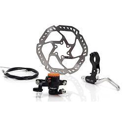 Тормоз дисковый XLC BR-D02, механика, ротор 160 мм / тормоза велосипедные