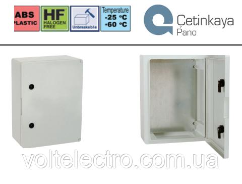 Пластиковий щит 300х400х195 IP65 c монтажною панеллю