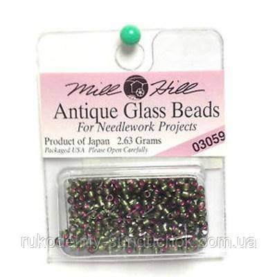 03059 бисер Mill Hill, 11/0 Green Velvet Antique Glass Beads