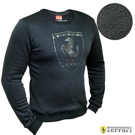 Мужской Свитшот. Реплика Puma Ferrari Black. Мужская одежда, фото 2