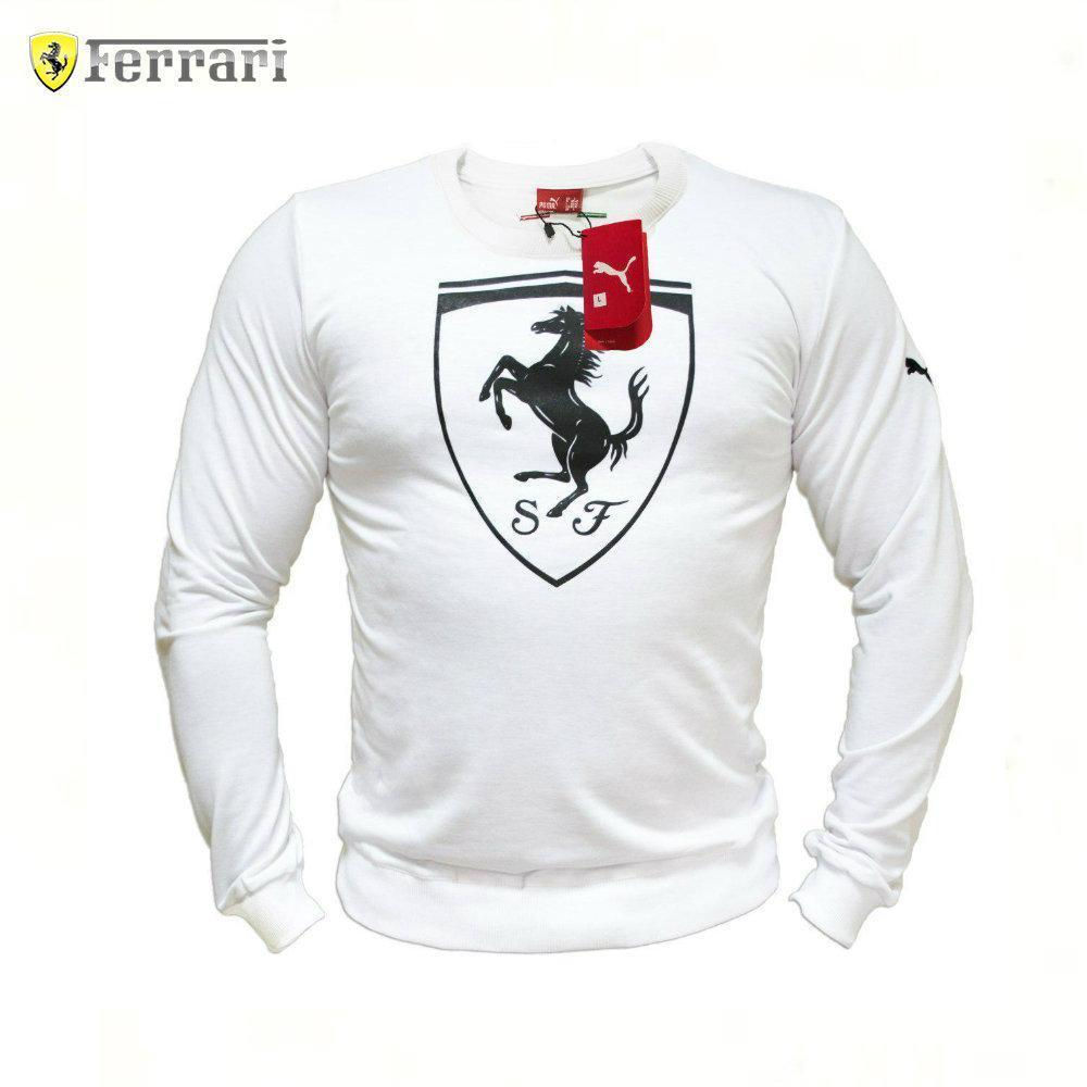 3f162c3ea587 мужской Cвитшот реплика Puma Ferrari White Big Logo мужская одежда