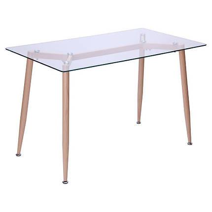 Стол обеденный Tilia Каркас бук/стекло прозрачное, фото 2
