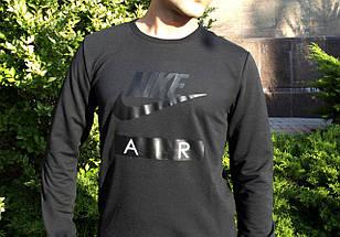 Мужской Cвитшот. Реплика ЧЕРНЫЙ  NIKE AIR. Мужская одежда, фото 2