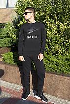 Мужской Cвитшот. Реплика ЧЕРНЫЙ  NIKE AIR. Мужская одежда, фото 3