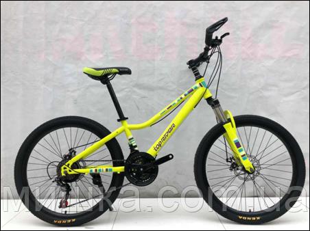 """Велосипед TopRider 900 26"""" подростковый салатовый"""