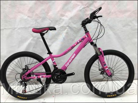 """Велосипед TopRider 900 26"""" подростковый малиновый"""