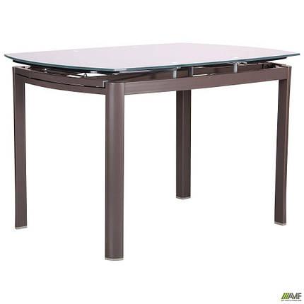 Стол обеденный раскладной Кассандра  B179-71 серый/стекло платина, фото 2