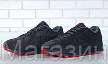 Мужские зимние кроссовки Nike Air Max 90 VT Tweed замшевые Найк Аир Макс 90 С МЕХОМ серые, фото 3