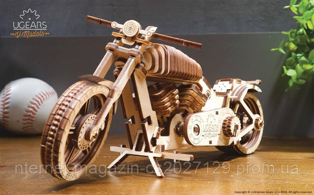 Украинский механический деревянный конструктор «Байк VM-02»