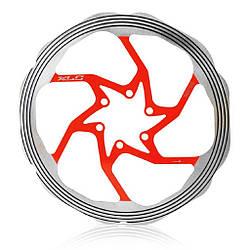 Ротор XLC BR-X58, ø180 мм. серебристо-красного цвета / роторы велосипедные