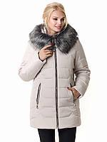 Женская зимняя куртка Irvik Z40110 бежевый, фото 1