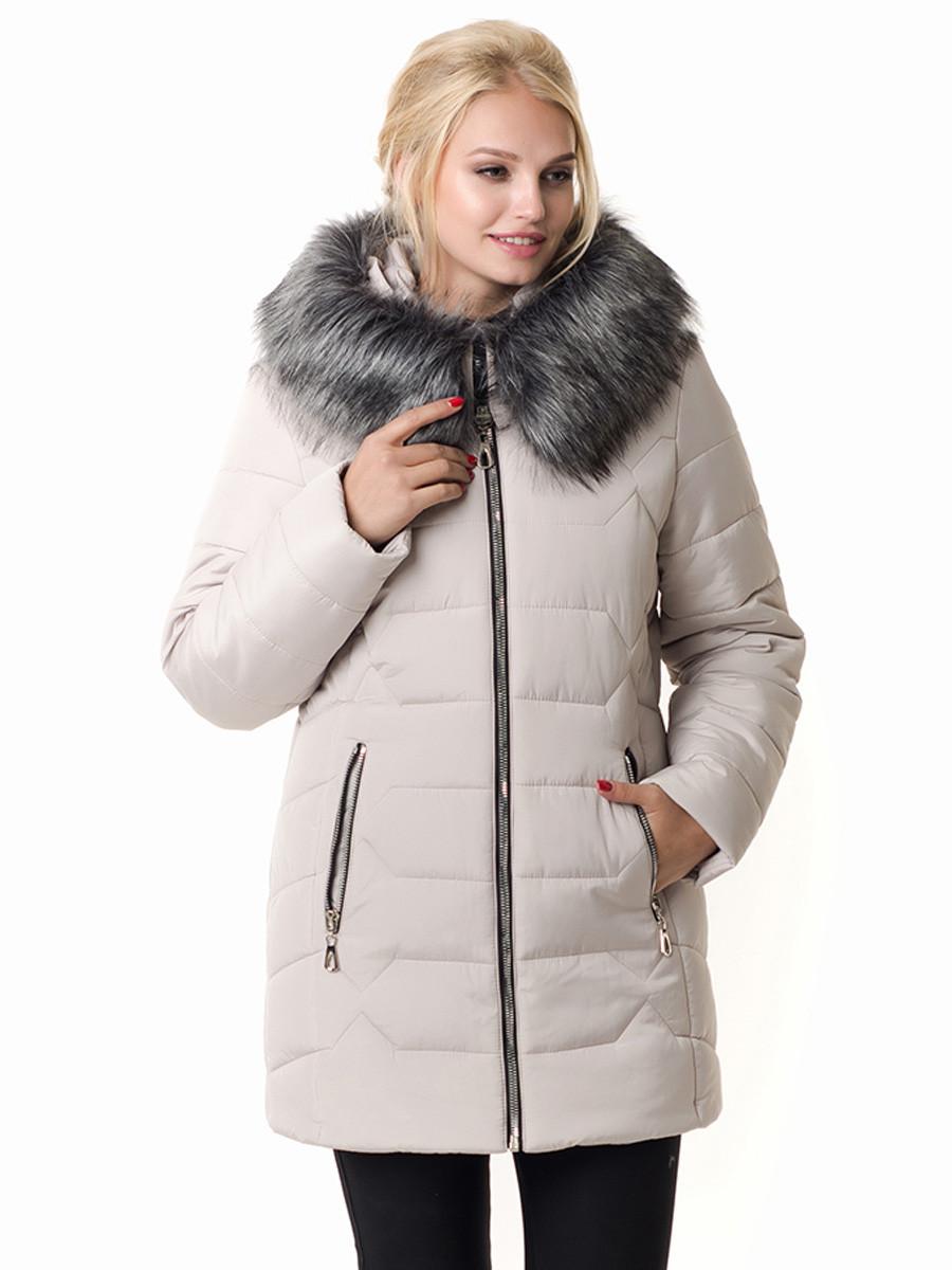 Женская зимняя куртка Irvik Z40110 бежевый