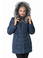Женская зимняя куртка Irvik Z40120 синий 46
