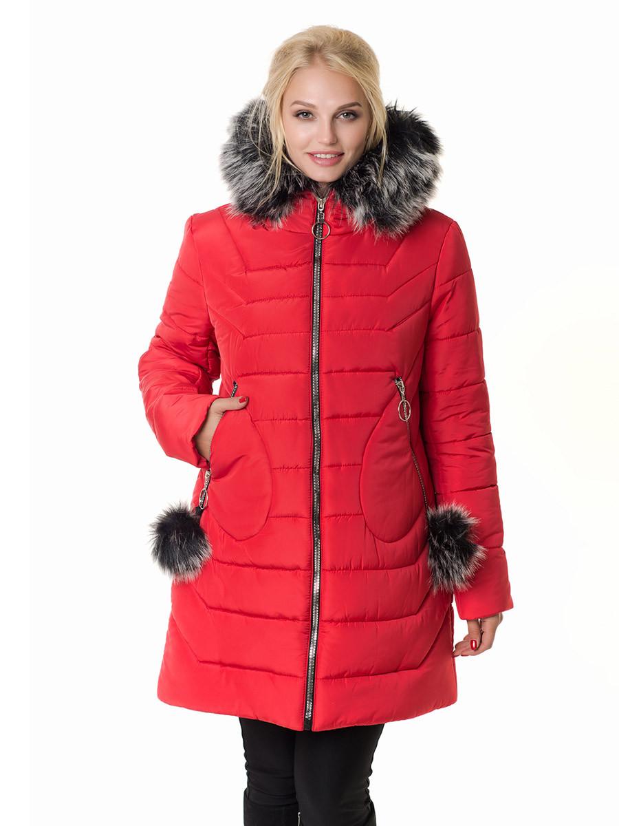 Женская зимняя куртка Irvik Z50200 красная, фото 1