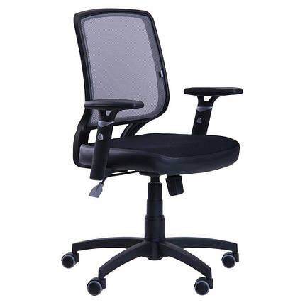 Кресло Онлайн сиденье Сетка черная/спинка Сетка серая, фото 2