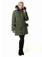 Женская зимняя куртка Irvik Z50210 зеленый 44