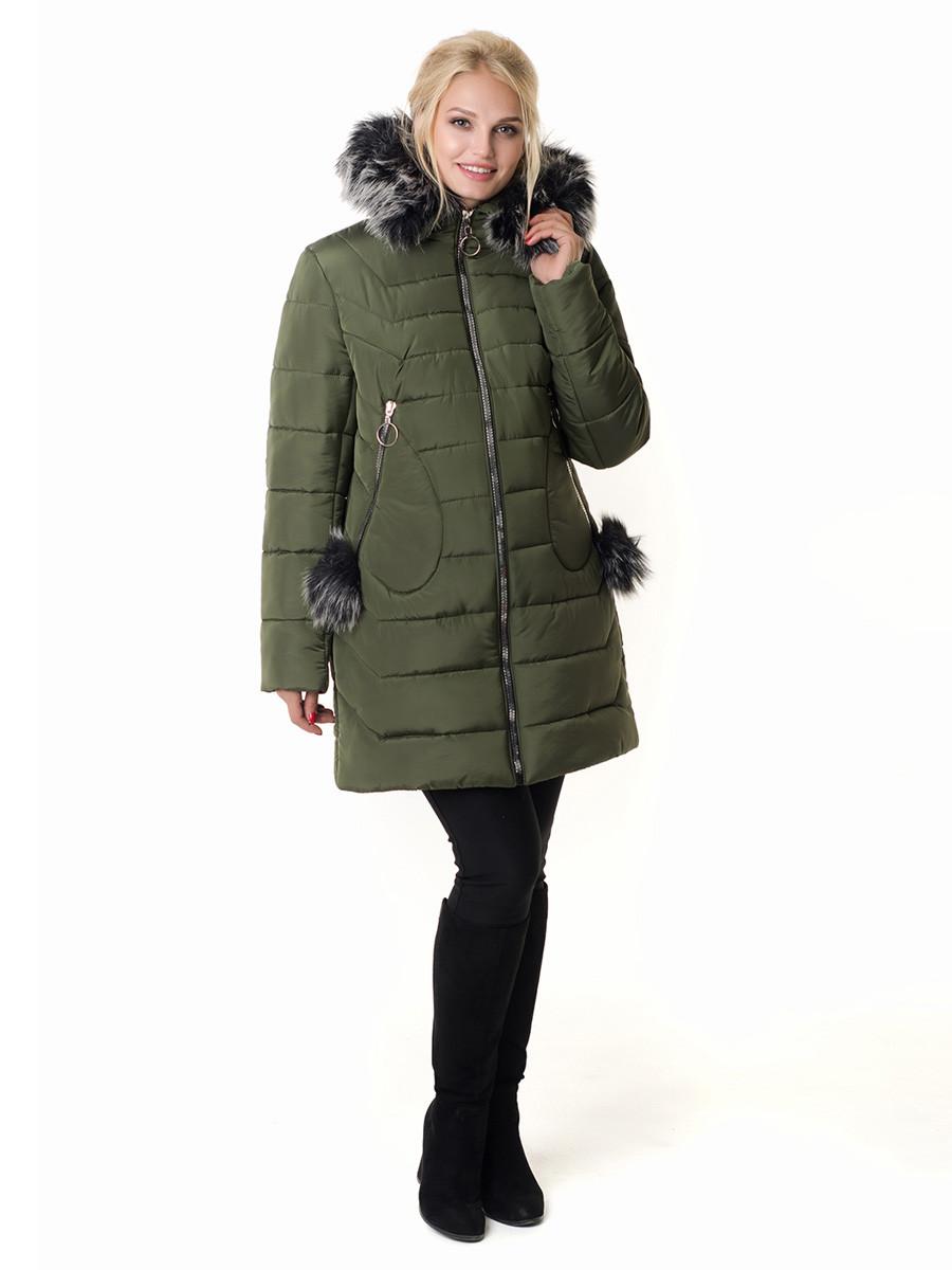 Женская зимняя куртка Irvik Z50210 зеленый, фото 1