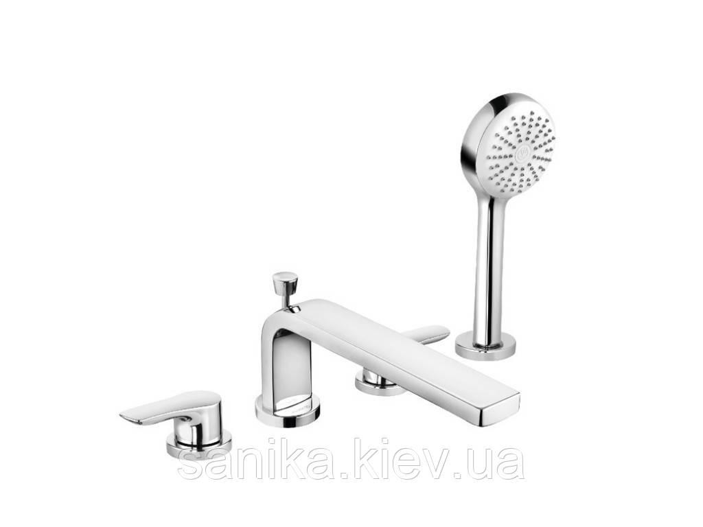 Смеситель для ванны и душа KLUDI PURE&SOLID DN 15 на 4 отверстия