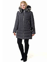 Женская зимняя куртка Irvik Z50220 темно серый 42