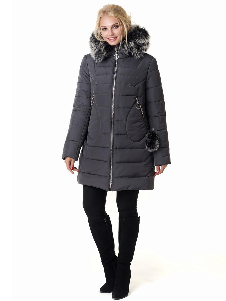 Женская зимняя куртка Irvik Z50220 темно серый, фото 1
