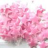 Набор розовых светонакопительных звезд 100шт. Фосфорные Звезды.