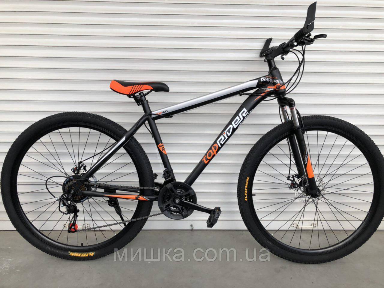"""Велосипед спортивный TopRider-611 29"""" оранжевый"""