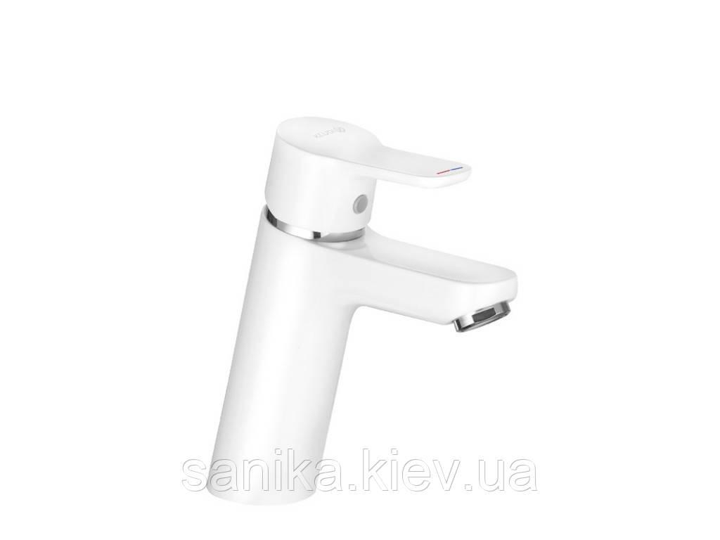 Смеситель для умывальника KLUDI PURE&EASY XL100, без донн.клапана, однорычажный, белый