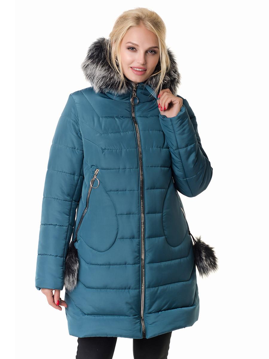 Женская зимняя куртка Irvik  Z50230 зеленый, фото 1