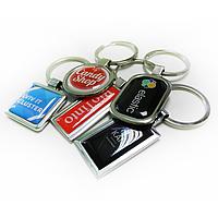 Корпоративный металлический брелок-линза для ключей - изготовление
