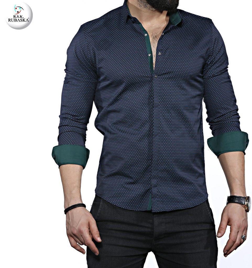 Стильная мужская рубашка с длинным рукавом-трансформером, новинка из Турции 758de373c74