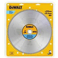 Диск пильный DeWALT, 355х25.4мм, 90 зубьев, угол заточки +10 градусов, по нержавеюжей стали, шт