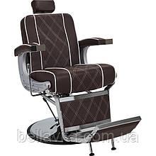 Перукарське чоловіче крісло Valencia Lux коричневий