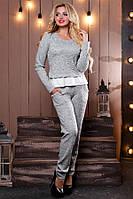 Женский серый костюм кофта и штаны КТ-341, фото 1