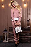 Женский розовый костюм кофта и штаны КТ-338, фото 1