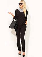 Женский черный деловой костюм КТ-328