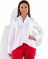 5b1a04df4e3 Блуза белая с манжетами на длинных рукавах размеры от XL 3115