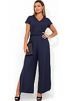 Модный женский комбинезон с боковыми разрезами на брюках размеры от XL 4333